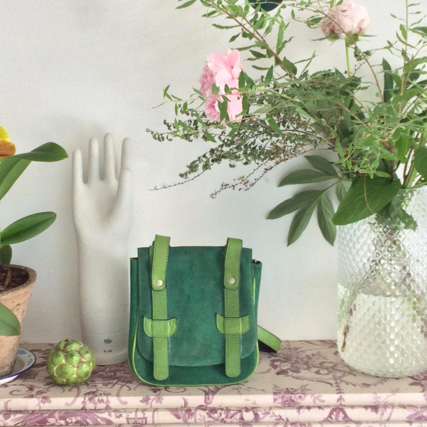 Handtasche und Dekoration