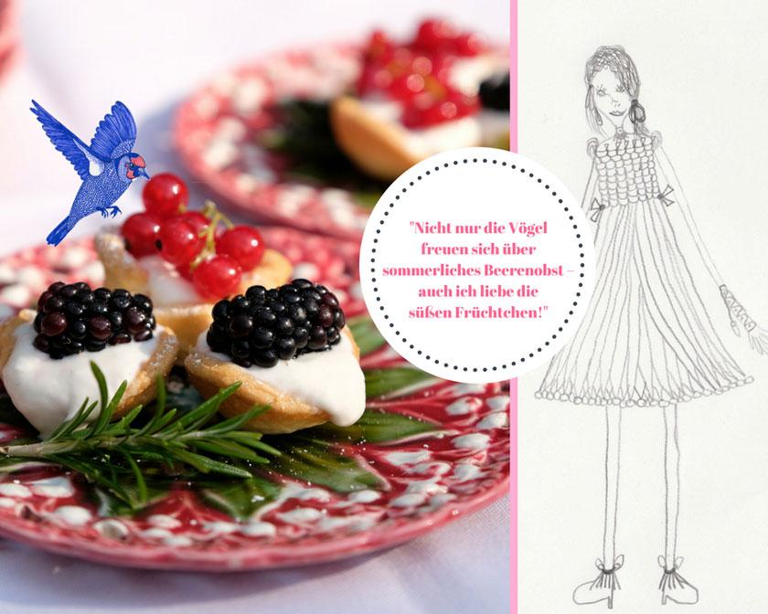 Eine Liebhaberin der Mini-Picknicktörtchen