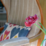 Sesselbezug Streifen Detail