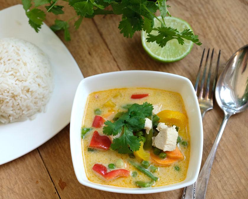 Thai-Eintopf mit Koriander