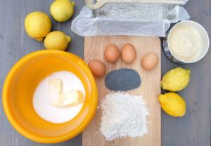 Zitronen-Mohnkuchen Zutaten