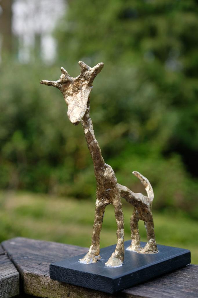 Kunst - Vergoldete Tierskulptur DIY