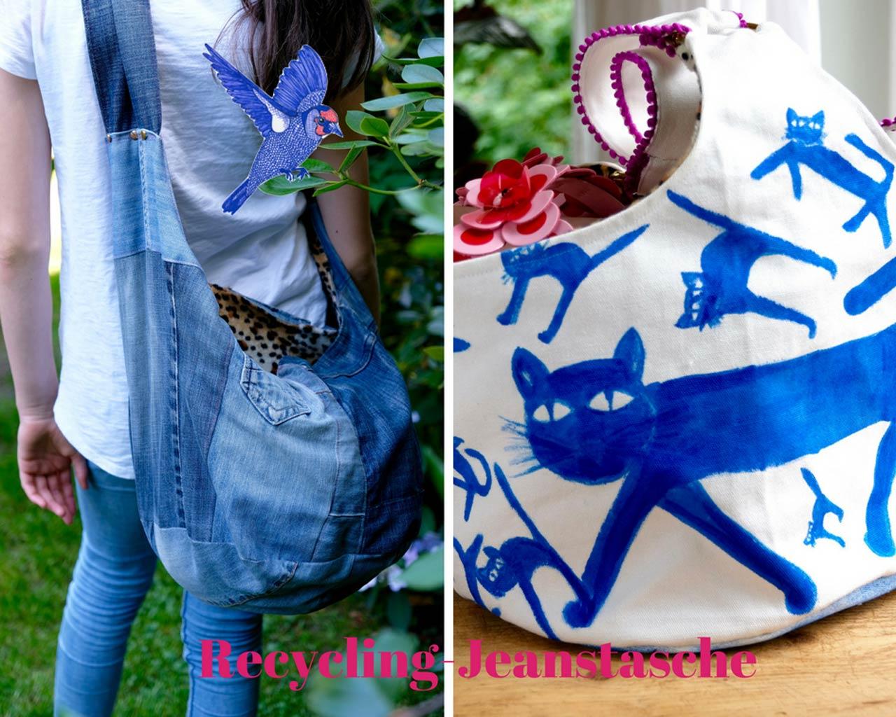 Recycling-Hippie-Jeanstaschen