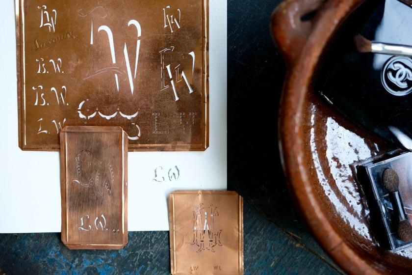 Antike Stickschablonen
