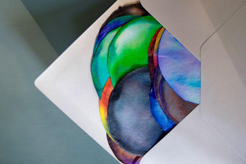 DIY-Kunst Farbkreise