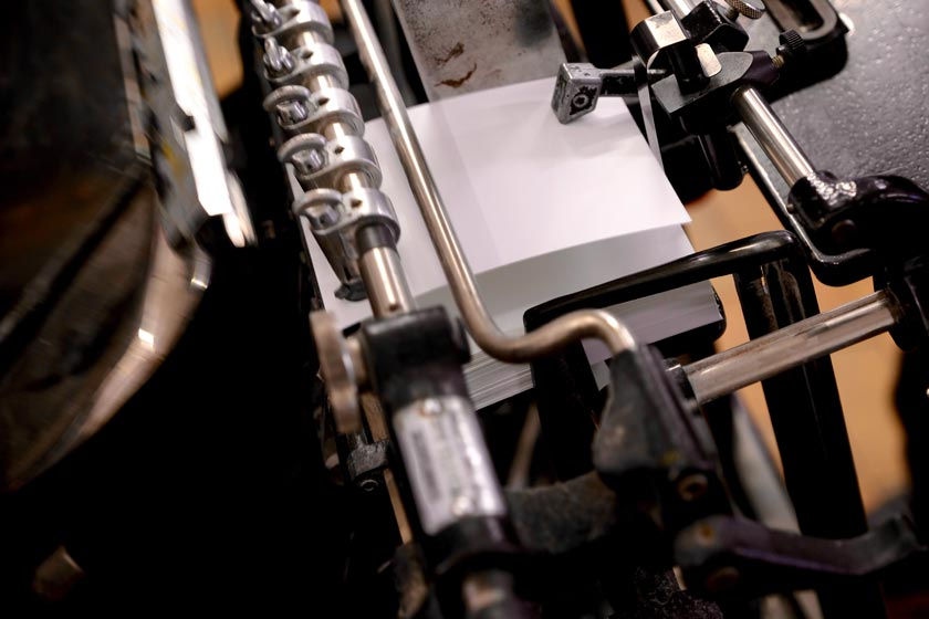 Werkstatt der Letterpress-Manufaktur Hamburg