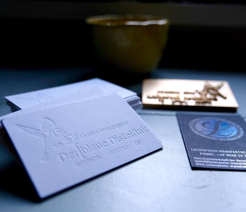 Geprägte Visitenkarten