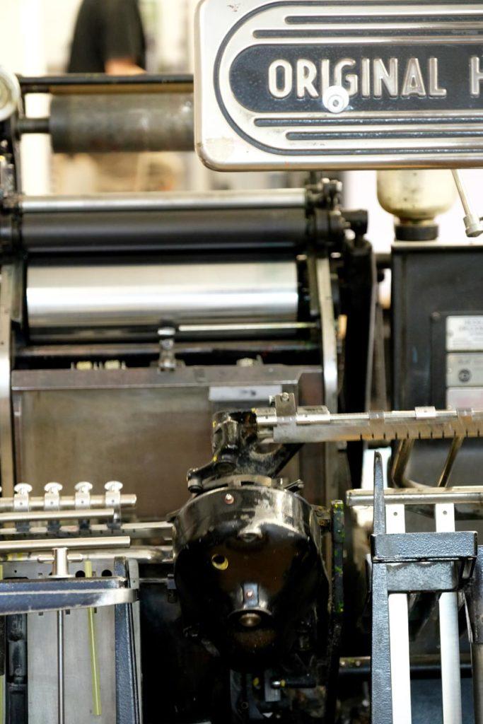 Historischer Buchdruck-Tiegel