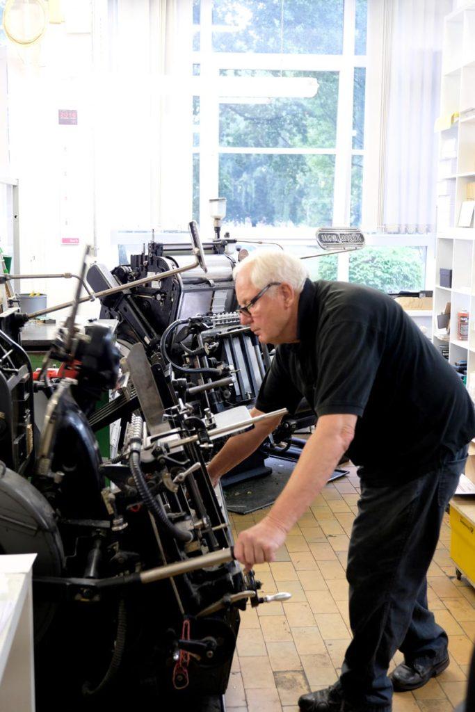 In der Werkstatt der Letterpress-Manufaktur Hamburg