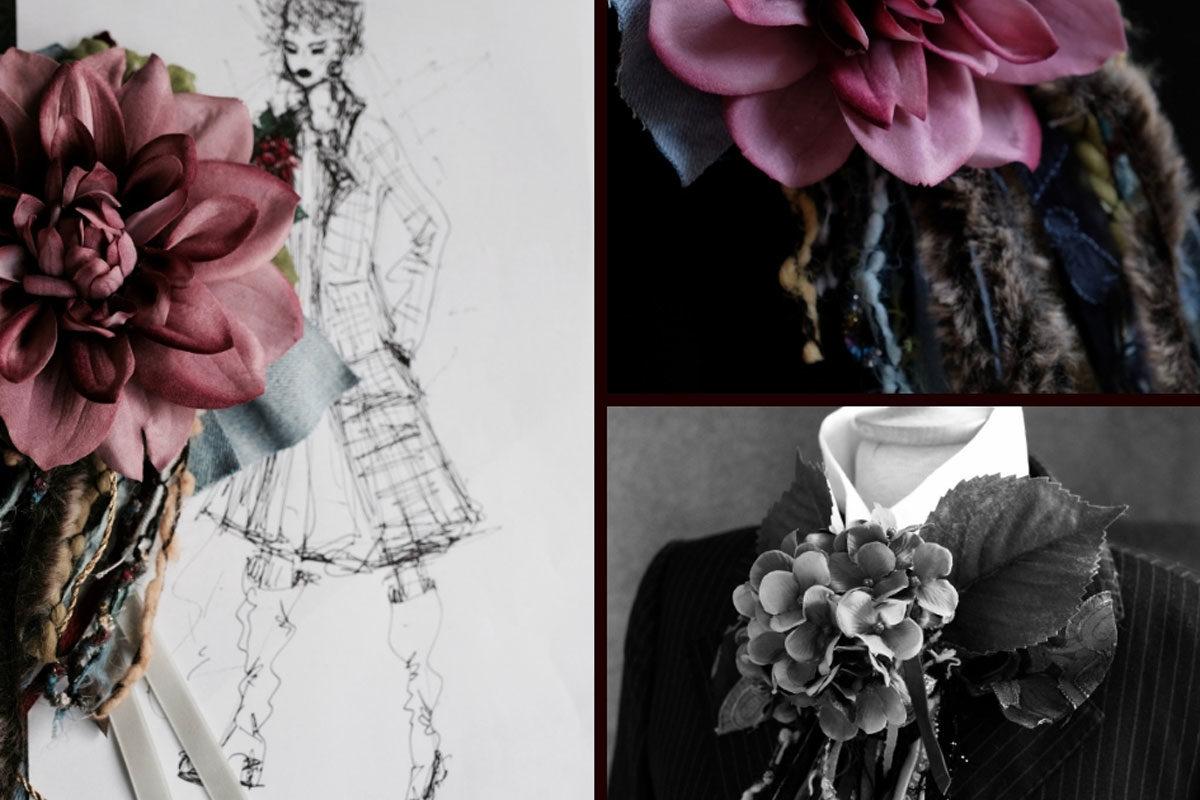 Fashion-DIY: Ansteckblumen