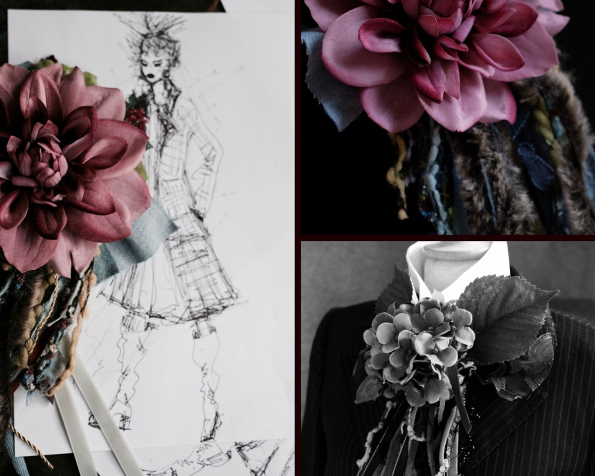 Fashion-DIY: Ansteckblumen