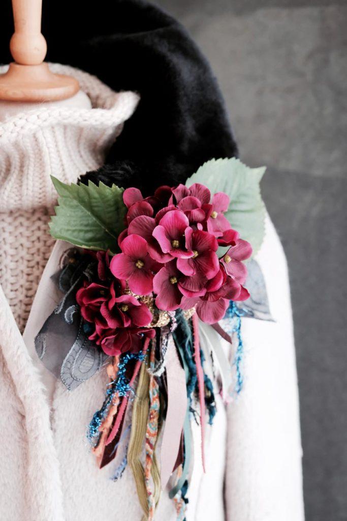 DIY-Ansteckblütenmit Fransen