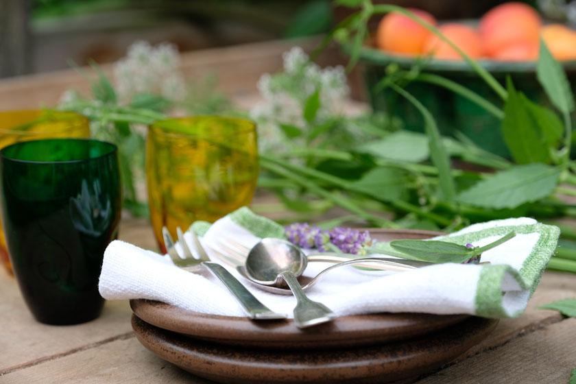 Outdoor-Picknick mit Aprikosen-Tarte.