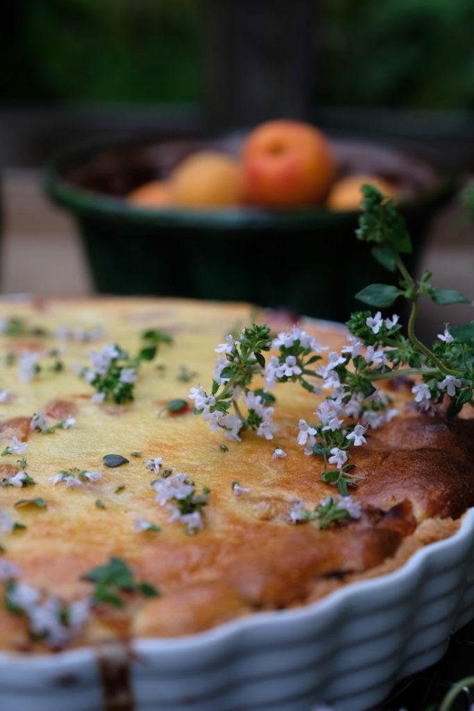 Aprikosen-Tarte mit Thymian. Saftig und köstlich!