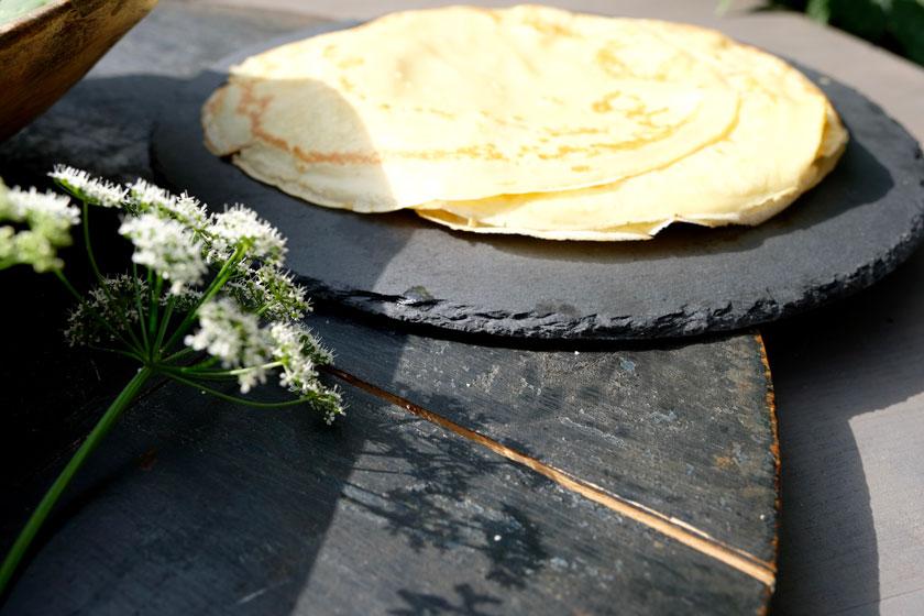 Crêpes für Crespelle alla giardino mit Giersch oder Spinat