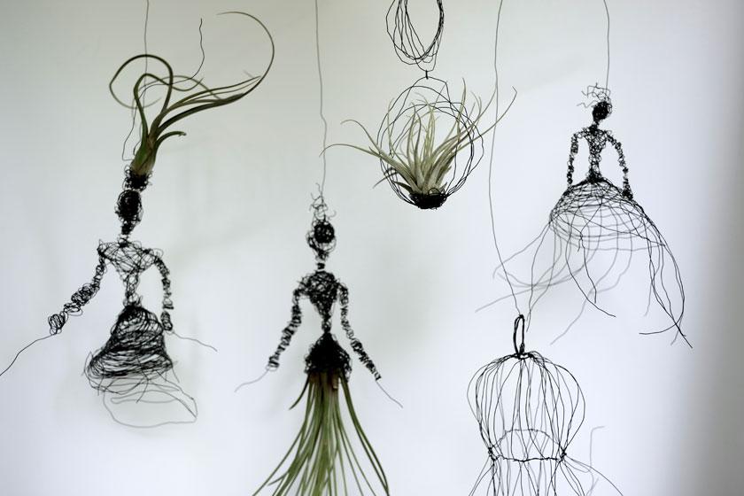 Tillandsien - DIY-Halterung in Figurinenform