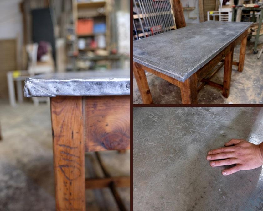 Aufgearbeiteter Arbeitstisch von flat no.6
