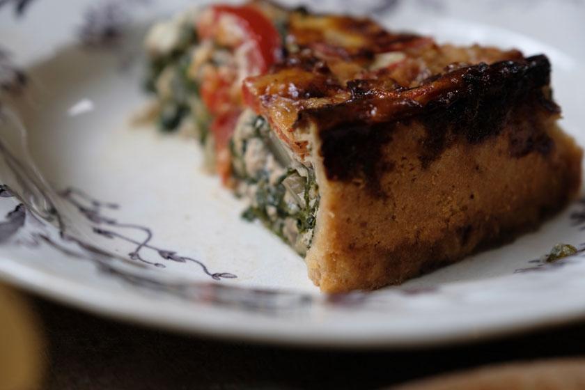 Mangold-Quiche mit Gorgonzola