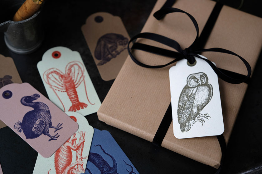 Geschenkanhänger aus einer italienischen Letterpress-Manufaktur