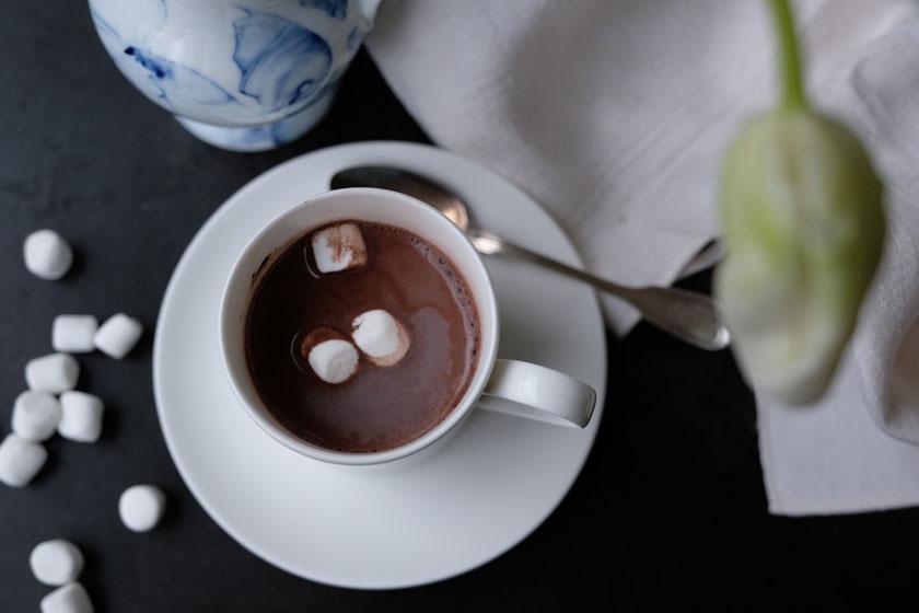 Winterweiß: Marshmallows im Kakao