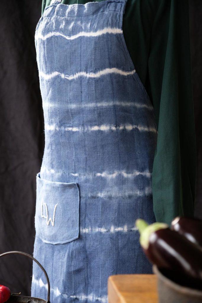 DIY: gefärbte Leinenschürze