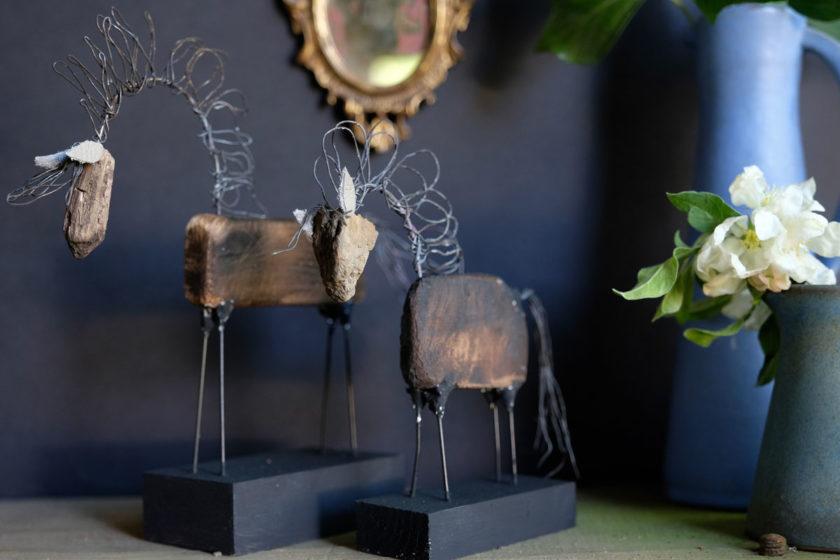 Skulpturen aus Naturmaterialien . Ein DIY.