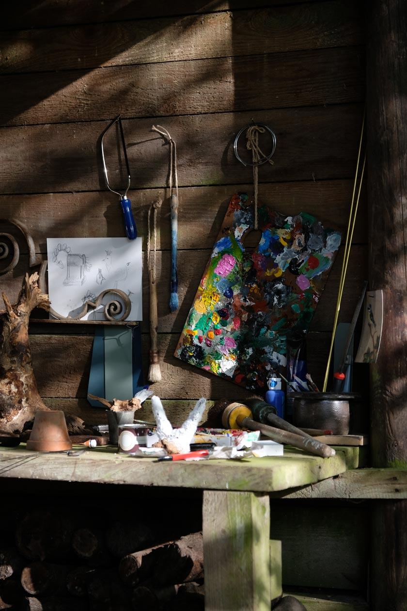 Atelier im Garten: Skulpturen-DIY