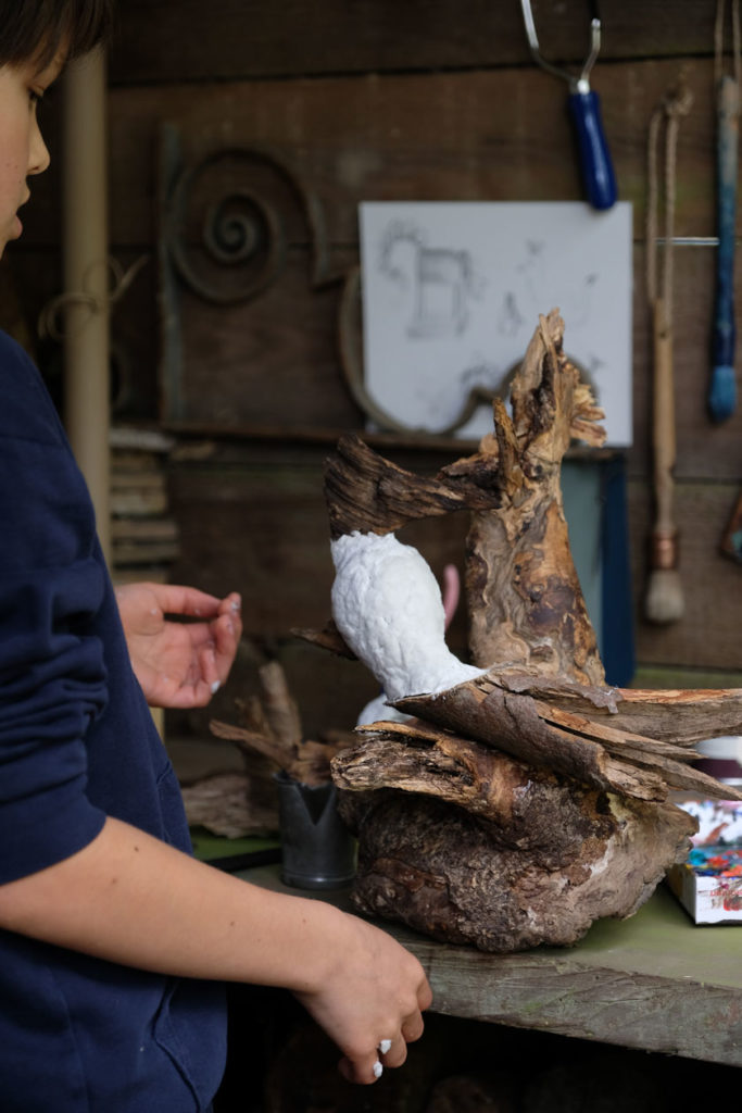 Skulpturen aus Naturmaterialien. Ein DIY