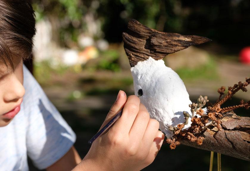 Vogel-Skulptur selbermachen