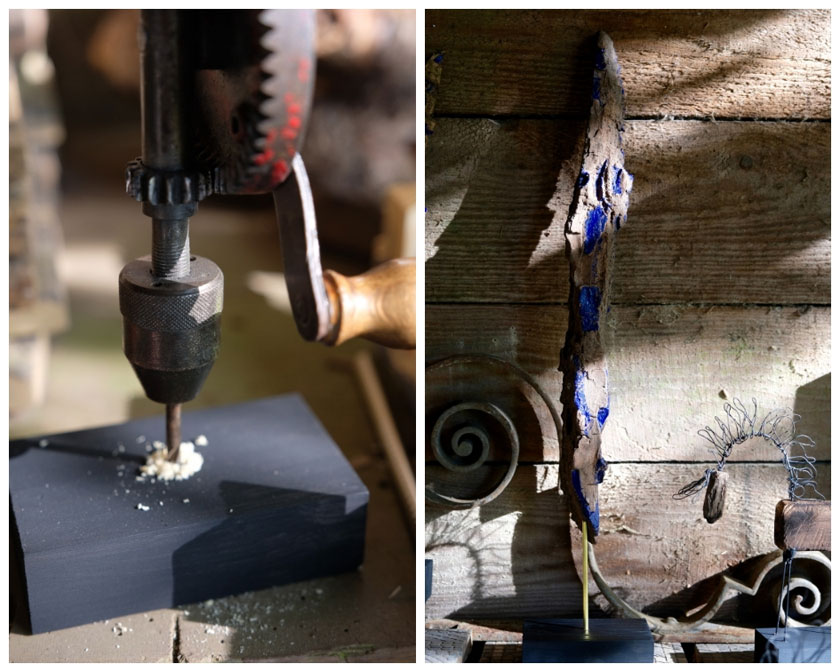 Triptychon aus Rinderstücken. Ein DIY