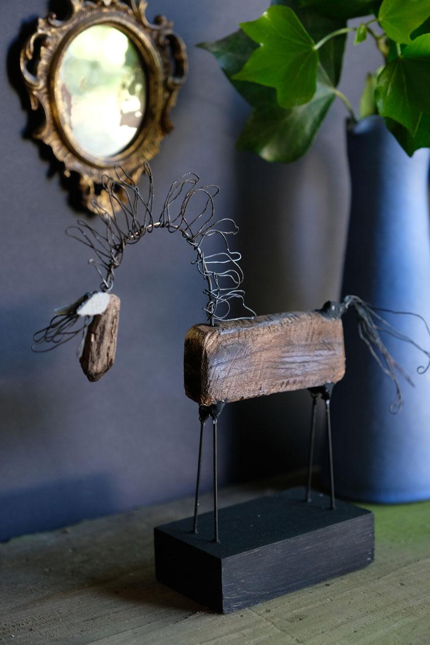Waldpferdchen aus geräuchertem Holz. Ein DIY