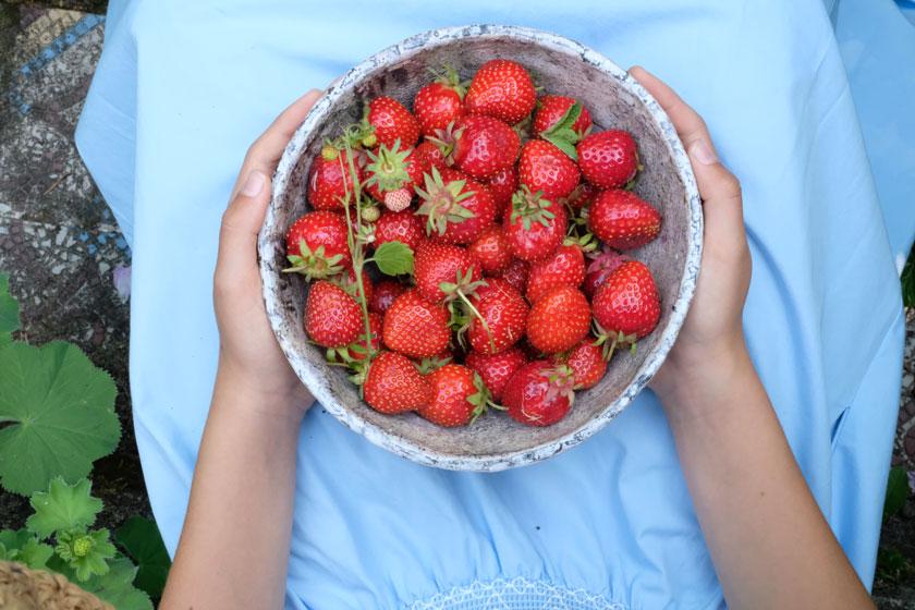 Windbeutel mit Erdbeeren, Aprikosen, Brombeeren