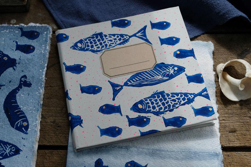 Notizbuch-DIY mit Buchbinde-Kit zum Bestellen