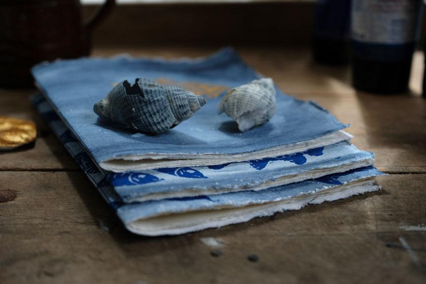 DIY Buchbinden. Notizhefte aus handgeschöpftem Papier