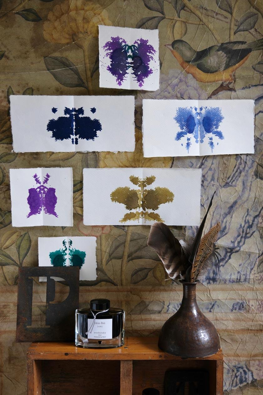 Tintenschmetterlinge –Moodboard für die schönsten Tintenfarben