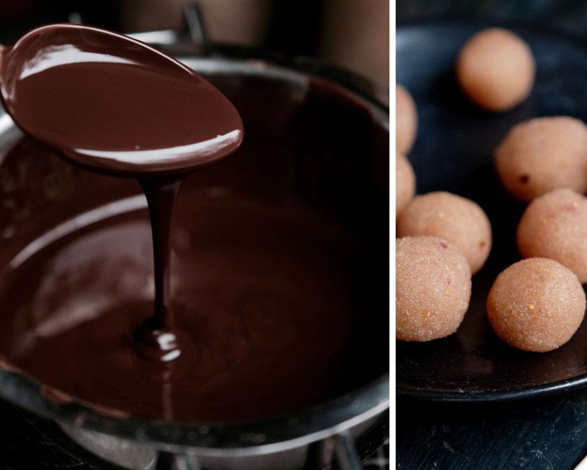 Marmeladenplätzchen und Feigenmarzipan-Pralinen