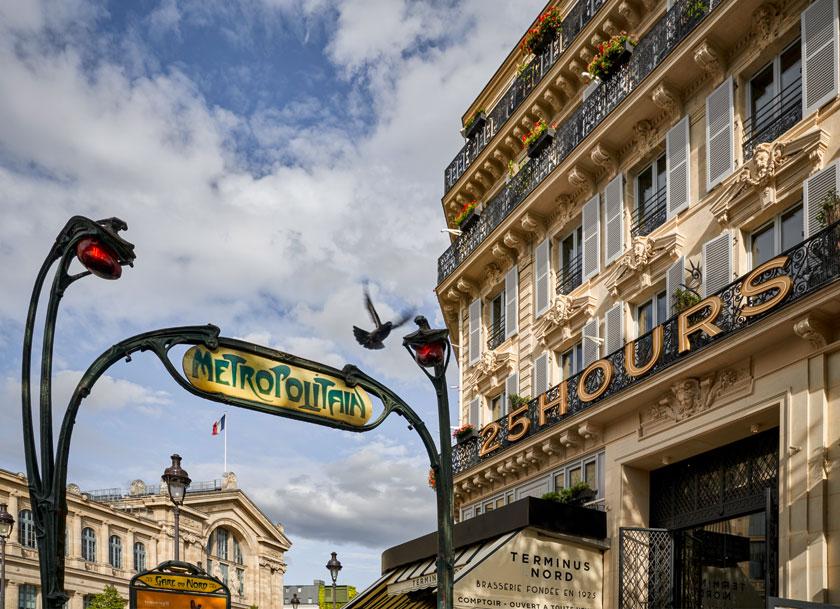 25hours Hotel Paris. Ein Interieur mit Waxprints