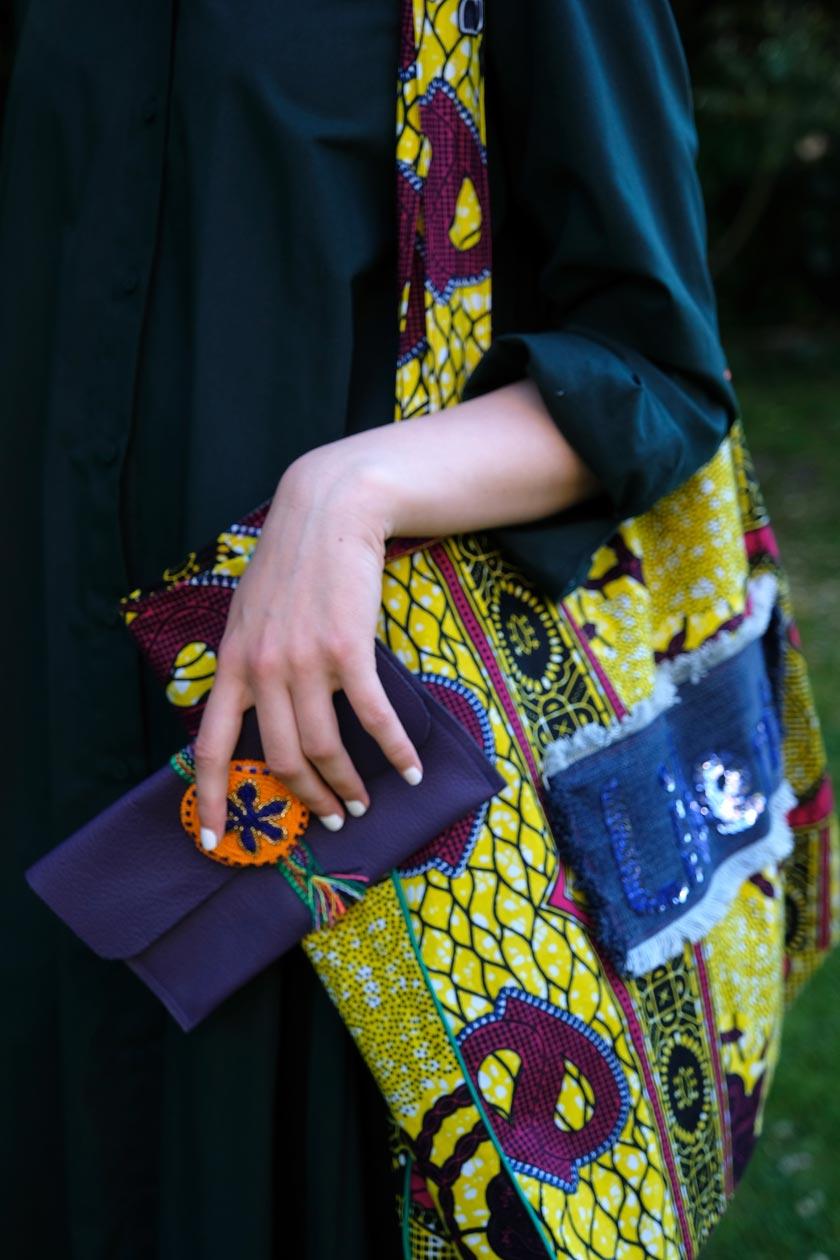 XL-Taschen aus afrikanisch inspiriertem Waxprint. Ein DIY